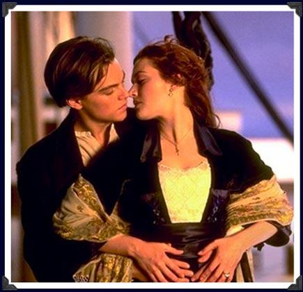 leonardo dicaprio titanic kissing. Titanic (1997) - Leonardo