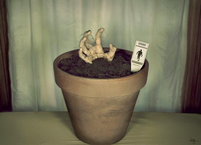 Zombie_Plant_growing_Zombie_art