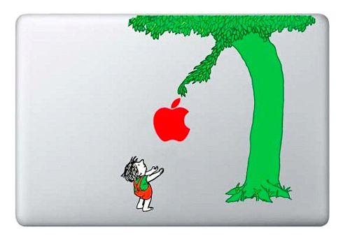 "Shel Silverstein Wall Decal: IPhone Savior: I Wish Every MacBook Had ""The Giving Tree"