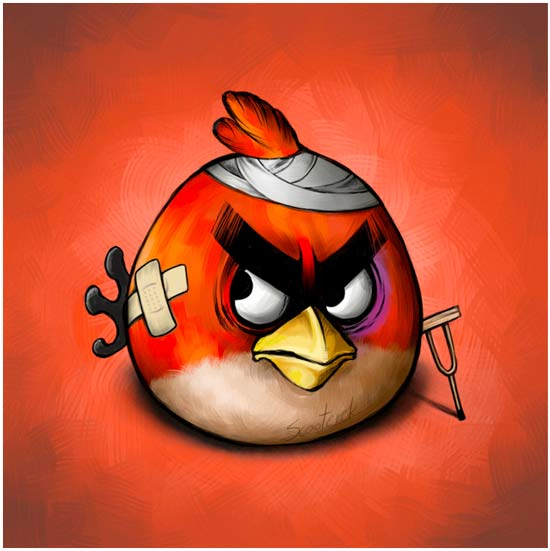 Battered_Angry_Birds_red