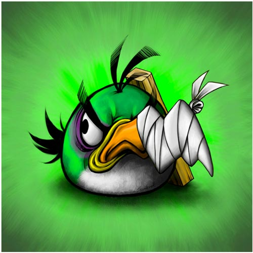 Battered_Angry_Birds_green