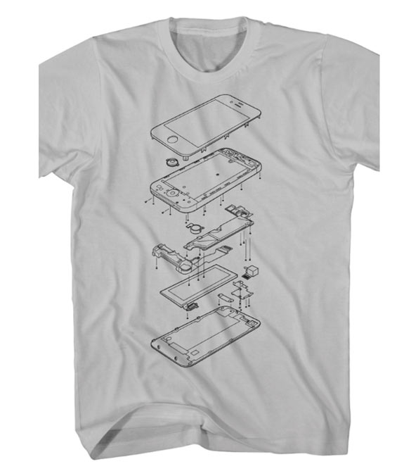 Exploded_iPhone_4S_T-Shirt
