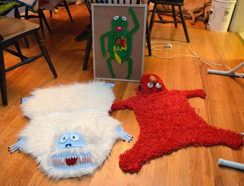 Elmo and Abominable Snowman Area Rugs