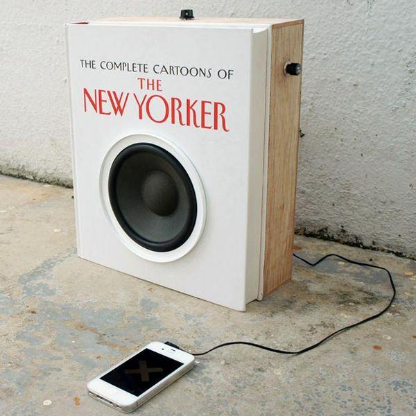 iPhone Audio Book Speaker Is Bookshelf Ready