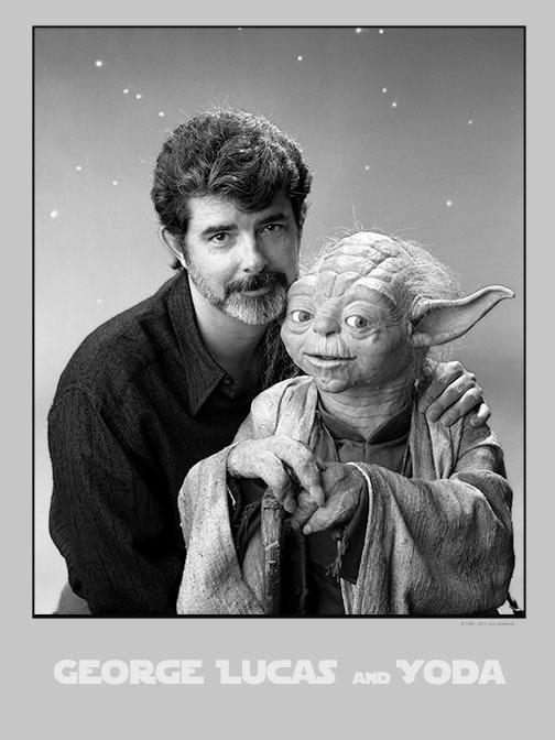 George_Lucas_and_Yoda_1989_Tom_Zimberoff