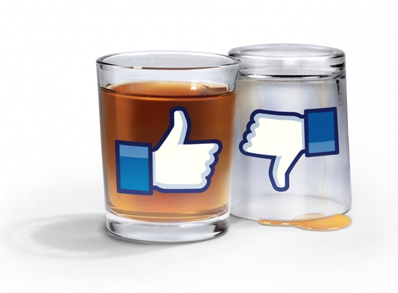 Facebook Dislike Button shot glass