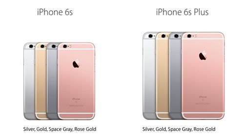 IPhone 6S 6S Plus colors